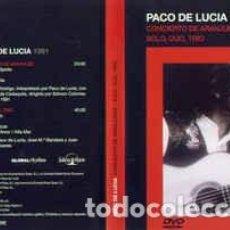 Vídeos y DVD Musicales: PACO DE LUCÍA – PACO DE LUCÍA 1991. Lote 118545967