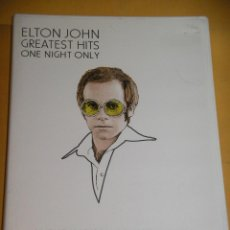 Video e DVD Musicali: ELTON JOHN, GREATEST HITS, ONE NIGHT ONLY, LIVE AT MADISON SQUARE GARDEN 2000, DVD, ERCOM D2. Lote 119120455