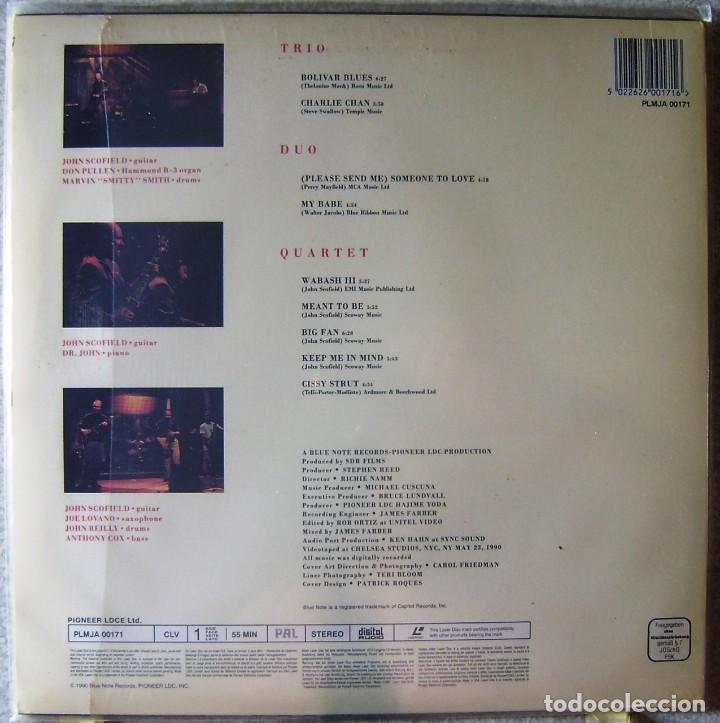 Vídeos y DVD Musicales: JOHN SCOFIELD.LIVE 3 WAYS...LASER DISC...RARO - Foto 2 - 119198667