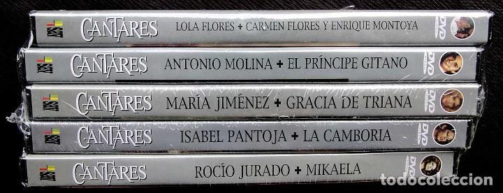 CANTARES DE TVE. 5 DVDS. PRECINTADOS SIN ABRIR. LOLA FLORES-ROCIO JURADO-ISABEL PANTOJA-LA CAMBORIA. (Música - Videos y DVD Musicales)