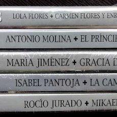 Vídeos y DVD Musicales: CANTARES DE TVE. 5 DVDS. PRECINTADOS SIN ABRIR. LOLA FLORES-ROCIO JURADO-ISABEL PANTOJA-LA CAMBORIA.. Lote 119511151