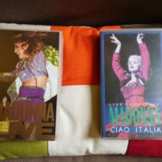 Vídeos y DVD Musicales: MADONNA CIAO ITALIA +THE VIRGIN TOUR.LIVE. VHS VIDEO AÑOS 80. Lote 120326307