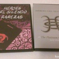 Vídeos y DVD Musicales: HEROES DEL SILENCIO LOTE DE DVD'S: -RAREZAS Y THE PLATINUM COLLECTION (DOBLE)-. Lote 120356191