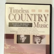 Vídeos y DVD Musicales: TIMELESS COUNTRY MUSIC - MARTY ROBBINS / ERNEST TUBB. ESTUCHE DVD. AÑO 2005.. Lote 120861243