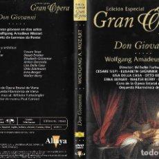 Vídeos y DVD Musicales: DON GIOVANNI - WOLFGANG AMADEUS MOZART - EDICIÓN ESPECIAL GRAN ÓPERA. Lote 120861559