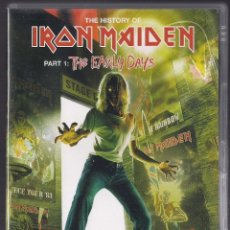 Vídeos y DVD Musicales: THE HISTORY OF IRON MAIDEN : PART 1 (THE EARLY DAYS) - DOBLE DVD ORIGINAL EU 2004 EMI - 315 MINUTOS. Lote 121874906