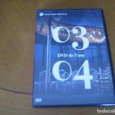 Vídeos y DVD Musicales: TEMPORADA OPERA LICEU BARCELONA DVD DE L' ANY 03 04 + FOLLETO INTERIOR. Lote 121242415