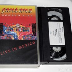 Vídeos y DVD Musicales: VHS SANTANA - SACRED FIRE (LIVE IN MEXICO). Lote 44308908