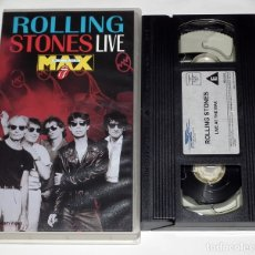 Vídeos y DVD Musicales: VHS ROLLING STONES - LIVE AT THE MAX. Lote 44308960