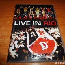 Vídeos y DVD Musicales: RBD LIVE IN RIO DVD DEL AÑO 2007 EU REBELDE DULCE MARIA ANAHI. Lote 122303895