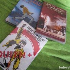 Vídeos y DVD Musicales: 3 CONCIERTAZOS DE QUEEN IMPRESCINDIBLES. Lote 123474223