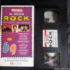 Vídeos y DVD Musicales: EL MEJOR ROCK DE TODOS LOS TIEMPOS 1969, VÍDEO VHS. BOWIE, ROLLING STONES DESMOND DEKER JANIS JOPLIN. Lote 123573062