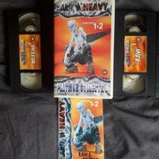 Vídeos y DVD Musicales: HARD 'N' HEAVY VOLUMES 1 & 2. LIBRETO + 2 VHS. KISS, OZZY, DIO, IRON MAIDEN, NIRVANA, ETC. Lote 123573846