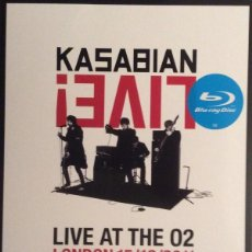 Vídeos y DVD Musicales: KASABIAN * BLU RAY + CD * LIVE! LIVE AT THE O2 LONDON 15/12/2011 * LTD FUNDA CARTÓN!! * PRECINTADO!!. Lote 127687087