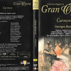 Vídeos y DVD Musicales: CARMEN - GEORGES BIZET - EDICIÓN ESPECIAL GRAN ÓPERA. Lote 127977367
