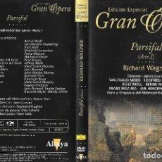 Vídeos y DVD Musicales: PARSIFAL - RICHARD WAGNER - EDICIÓN ESPECIAL GRAN ÓPERA. Lote 128736087