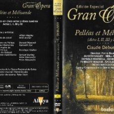 Vídeos y DVD Musicales: PELLÉAS ET MÉLISANDE - CLAUDE DEBUSSY - EDICIÓN ESPECIAL GRAN ÓPERA. Lote 128736211
