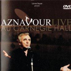 Vídeos y DVD Musicales: AZNAVOUR LIVE AU CARNEGIE HALL . Lote 128977935