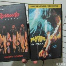 Vídeos y DVD Musicales: 2 VHS PLATERO Y TU-A PELO Y ROSENDO DIRECTO. Lote 129564851