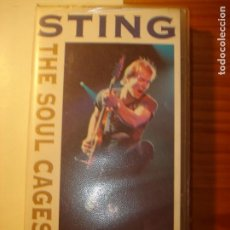 Vídeos y DVD Musicales: STING SOUL CAGES THE CONCERT VHS. Lote 129956255