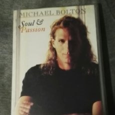 Vídeos y DVD Musicales: MICHAEL BOLTON VHS SOUL AND PASSION. Lote 131127408