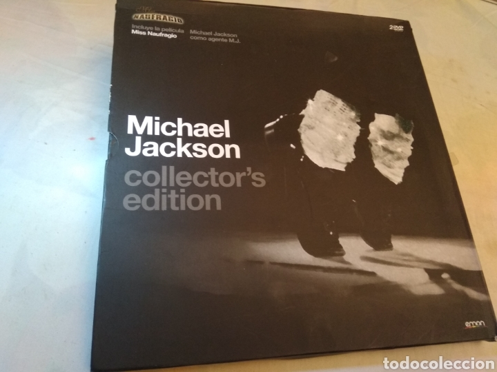 MICHAEL JACKSON 2 DVDS COLLECTOR EDITION MISS NAUFRAGIO (Música - Videos y DVD Musicales)