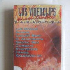 Vídeos y DVD Musicales: VHS NUEVO VIDEOCLIPS ENCONTRADOS EN ZARAGOZA LAS NOVIAS LUXURY BEAT ATMOSFERA COMBAYS GHOTIC SEX. Lote 133086810