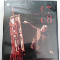 Vídeos y DVD Musicales: GRAN TEATRE DEL LICEU: DVD DE L'ANY 07-08.. Lote 192166176