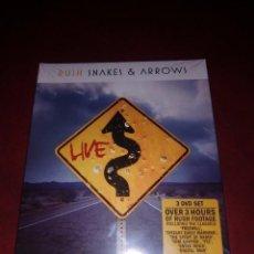 Vídeos y DVD Musicales: DVD RUSH SNAKES & ARROWS 3 DVD PRECINTADO. Lote 132445094