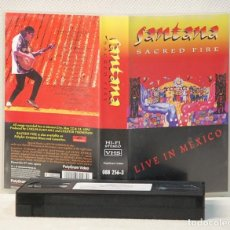 Vídeos y DVD Musicales: VIDEO VHS.-SANTANA .SACRED FIRE-LIVE IN MEXICO.POLYGRAM VIDEO.1993. Lote 132791238