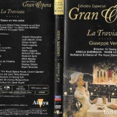 Vídeos y DVD Musicales: LA TRAVIATA - GIUSEPPE VERDI - EDICIÓN ESPECIAL GRAN ÓPERA. Lote 132958594