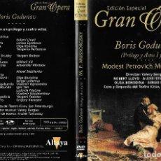 Vídeos y DVD Musicales: BORIS GODUNOV - MODEST PETROVICH MUSSORGSKY - EDICIÓN ESPECIAL GRAN ÓPERA. Lote 133115026