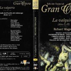 Vídeos y DVD Musicales: LA VALQUIRIA - RICHARD WAGNER - EDICIÓN ESPECIAL GRAN ÓPERA. Lote 134003294