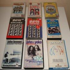 Vídeos y DVD Musicales: THE BEATLES. PRECIOSO LOTE DE 9 CINTAS VHS. Lote 134117358