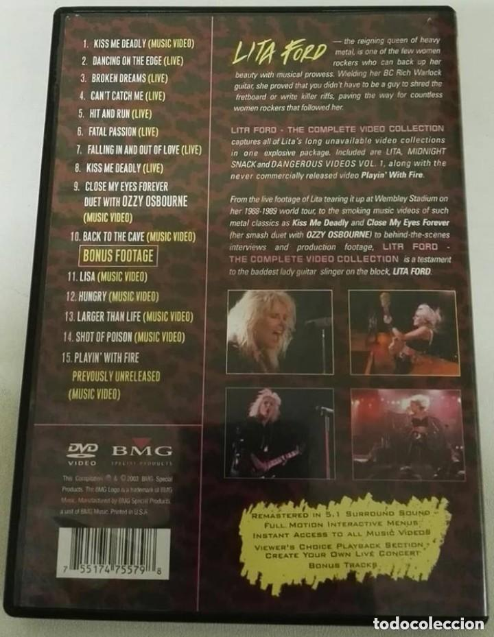 Vídeos y DVD Musicales: Lita ford complete video collection dvd - Foto 2 - 136154018