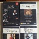 Vídeos y DVD Musicales: LOTE 4 DVDS DE OPERA-COMO NUEVOS-TOSCA-LA TRAVIATA-DON CARLO-EL BARBERO DE SEVILLA. Lote 137505774