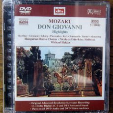 Vídeos y DVD Musicales: DVD AUDIO - MOZART- DON GIOVANNI, EXTRACTOS - 2000 - OPERA - PRECINTADO. Lote 137639734