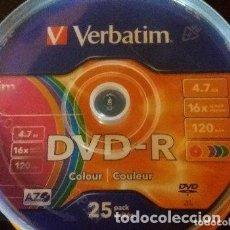 Vídeos y DVD Musicales: 2 TARRINA DE 25 UNIDADES CADA UNA DVD-R. Lote 137819914