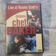 Vídeos y DVD Musicales: CHET BAKER LIVE AT RONNIE SCOTTS +ELVIS COSTELLO Y VAN MORRISON; DVD JAZZ. Lote 138100034