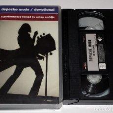 Vídeos y DVD Musicales: VHS DEPECHE MODE - DEVOTIONAL. Lote 138911562