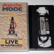 Vídeos y DVD Musicales: VHS DEPECHE MODE - LIVE IN HAMBURG. Lote 138911634