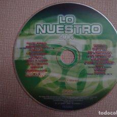 Vídeos y DVD Musicales: DVD MUSICA LO NUESTRO 2004 18 VIDEOS + KARAOKES BISBAL CHENOA BUSTAMANTE SERGIO DALMA ANDY LUCAS Y +. Lote 138923278