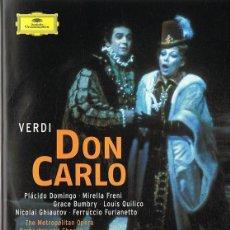 Vídeos y DVD Musicales: DON CARLO VERDI ( 2 DISCOS). Lote 139038666
