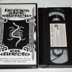 Vídeos y DVD Musicales: VHS HEROES DEL SILENCIO - EN DIRECTO - RTVE. Lote 139210830