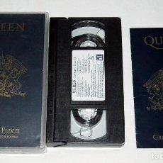 Vídeos y DVD Musicales: VHS - QUEEN - GREATEST FLIX II - INCLUYE LIBRETO. Lote 139228070