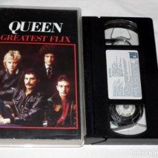 Vídeos y DVD Musicales: VHS - QUEEN - GREATEST FLIX. Lote 139228202