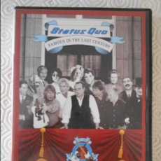 Vídeos e DVD Musicais: STATUS QUO. FAMOUS IN LAST CENTURY. FILMED LIVE IN LONDON. DVD 120 MINUTOS.. Lote 140146226