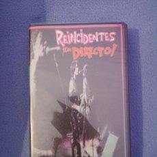 Vídeos y DVD Musicales: REINCIDENTES EN DIRECTO VHS NUEVO. Lote 140481546