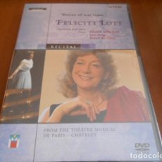 Vídeos y DVD Musicales: DVD-VOICES OF OUR TIME: FELICITY LOTT -PRECINTADA. Lote 141907282