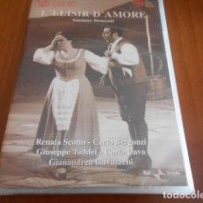 Vídeos y DVD Musicales: DVD-L´ELISIR DÁMORE-GAETANO DONIZETTI-PRECINTADO. Lote 142319954
